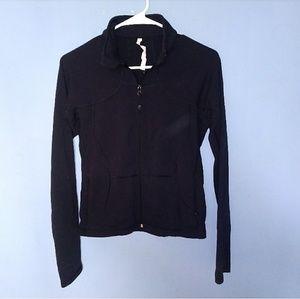 Lululemon Black Zipfront Track Jacket 8
